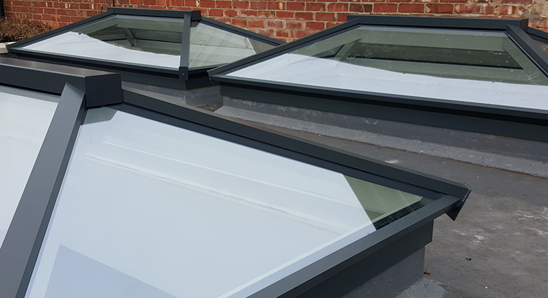 3 Roof lanterns as part of an orangery extension