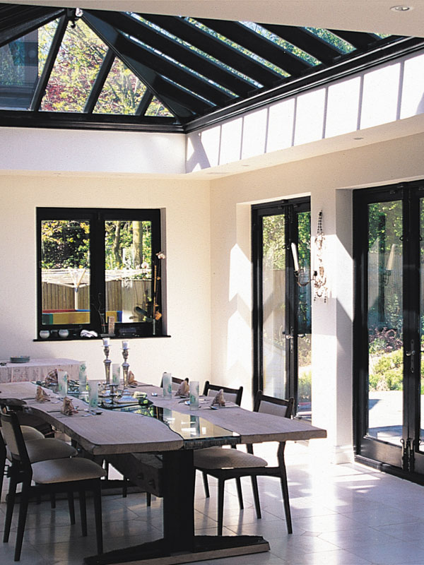 Roof Lantern Above A Dining Room