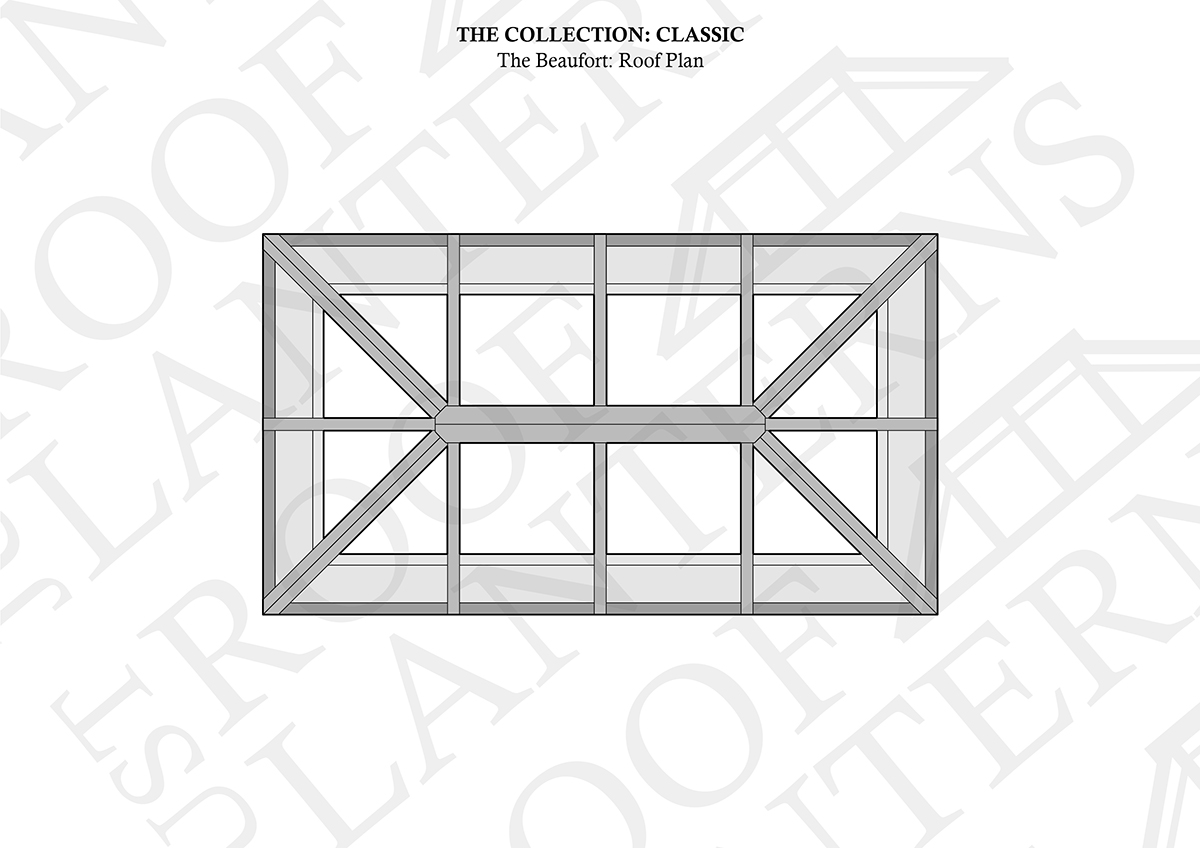 The beaufort roof lantern roof plan