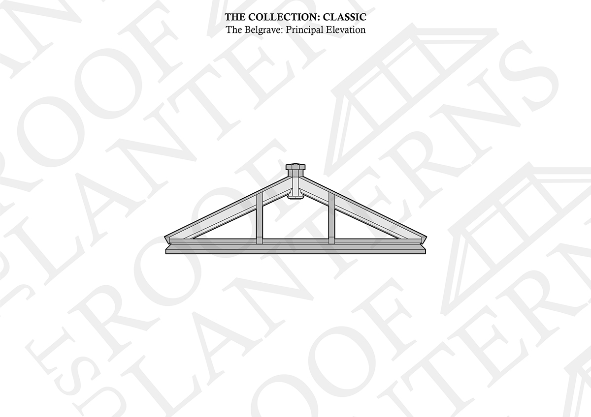 Principal Elevation of The Belgrave Roof Lantern