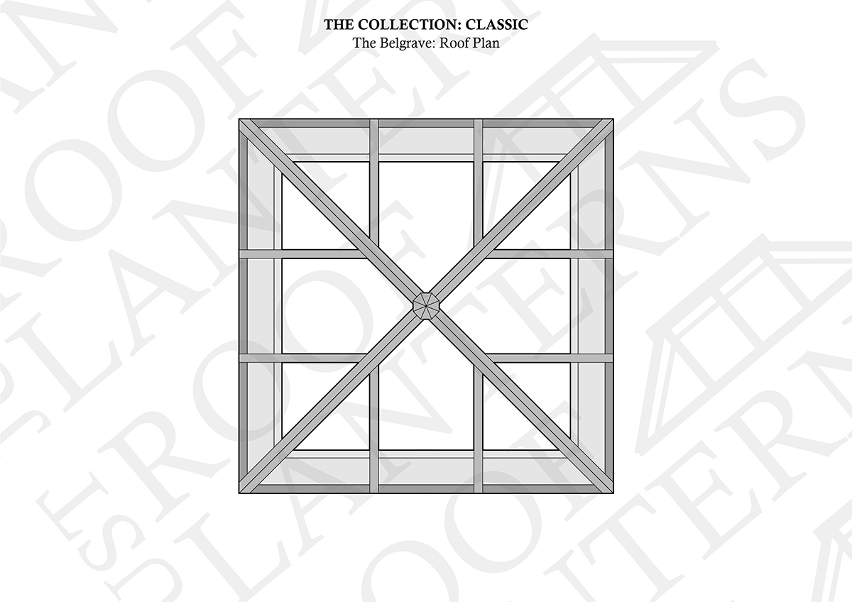 Roof Plan of The Belgrave Roof Lantern