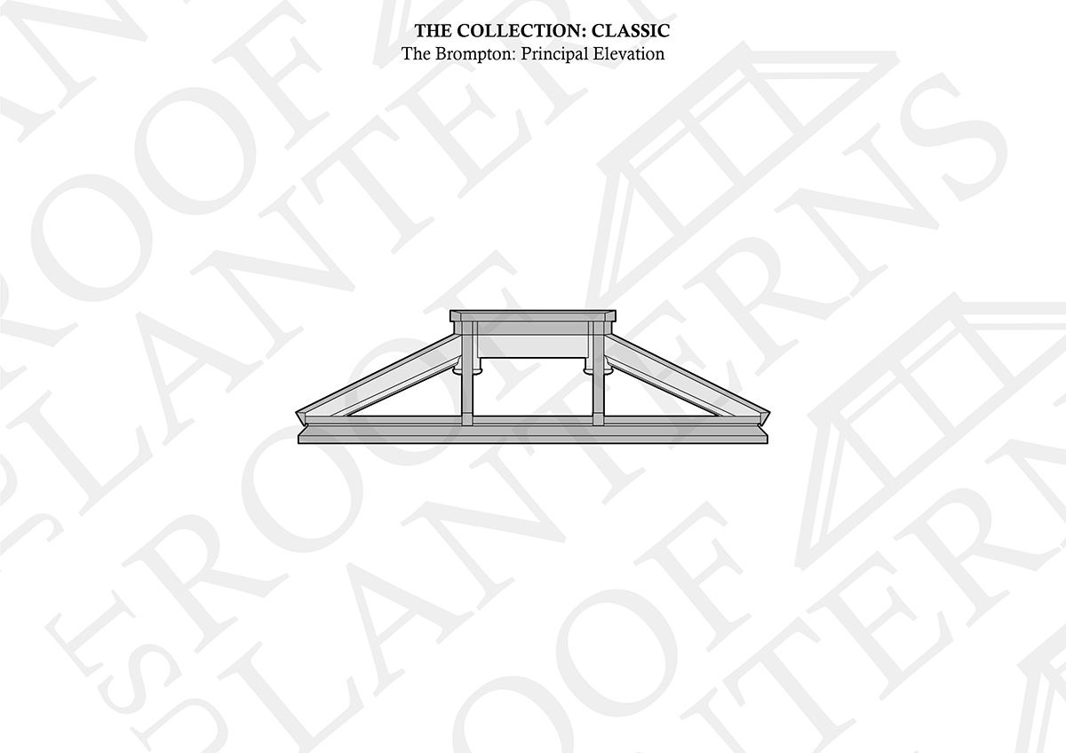 Principal Elevation of The Brompton Roof Lantern