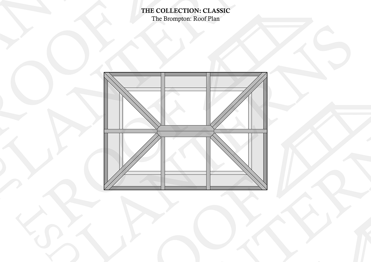 Roof Plan of The Brompton Roof Lantern