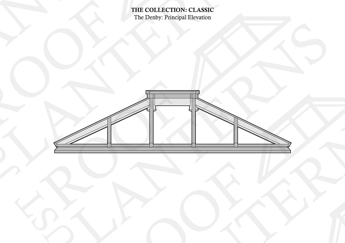 Principal Elevation of The Denby Roof Lantern