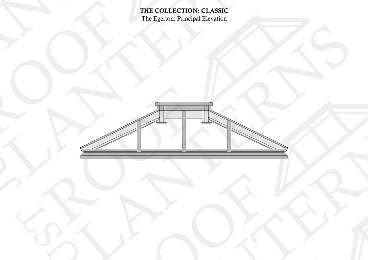 Principal Elevation of The Harrington Roof Lantern