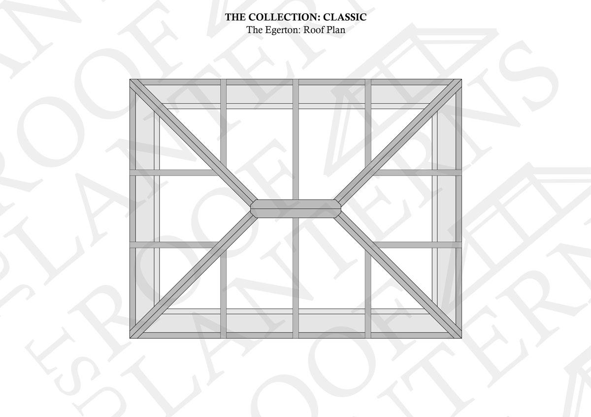 Roof Plan of The Harrington Roof Lantern