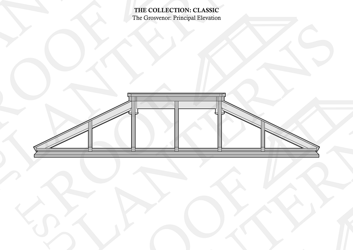 Principal Elevation of The Grosvenor Roof Lantern