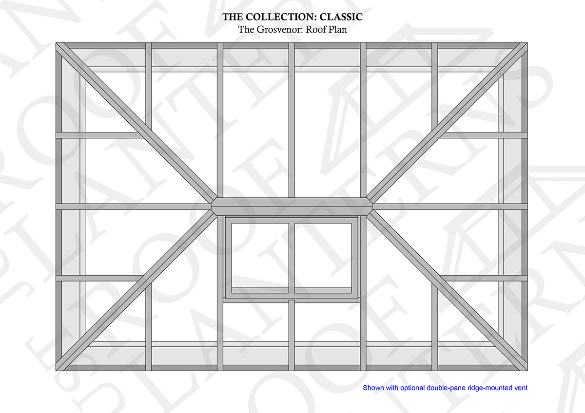 The grosvenor roof lantern roof plan