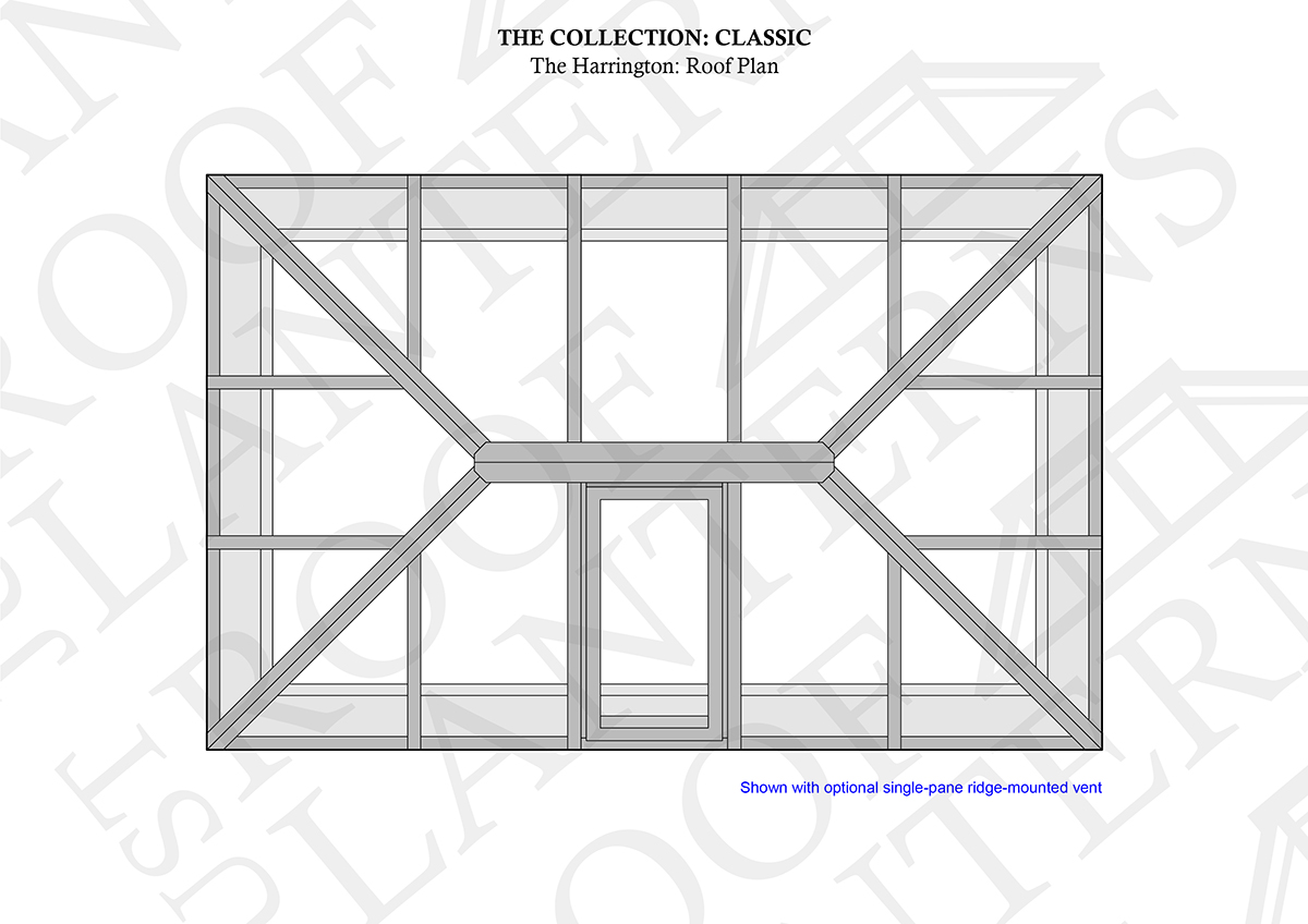 The harrington roof lantern roof plan