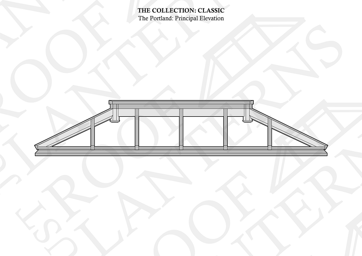 Principal Elevation of The Portland Roof Lantern