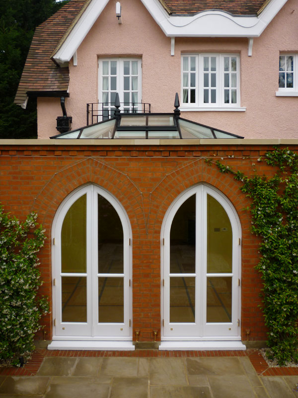 Orangery extension predominantly built in brick