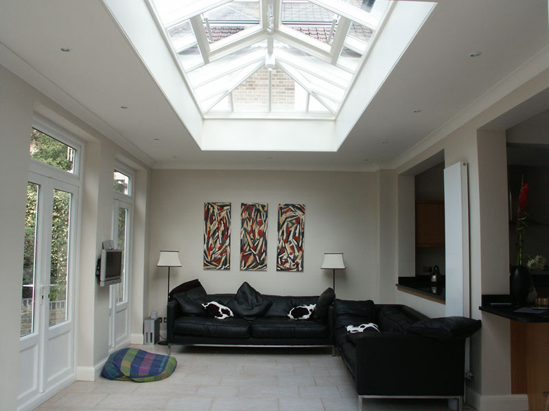 Interior of an orangery extension
