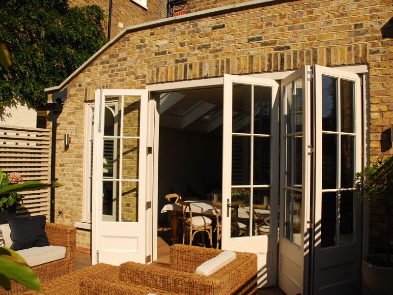 An orangery extension constructed in brick