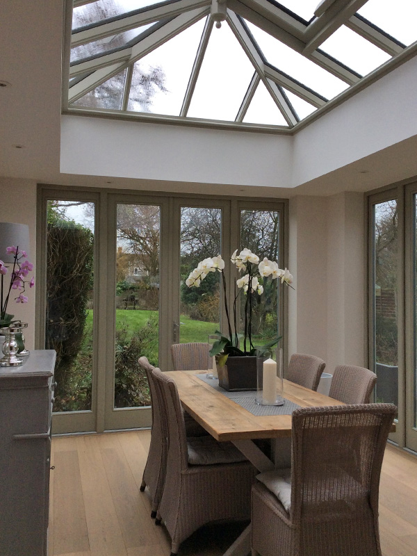 Orangery with two pairs of french doors