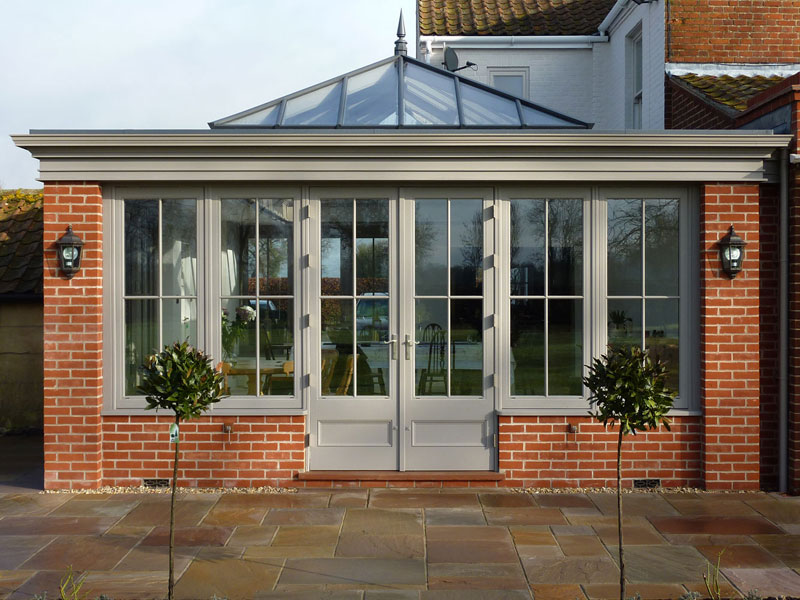 Principal elevation of an orangery extension