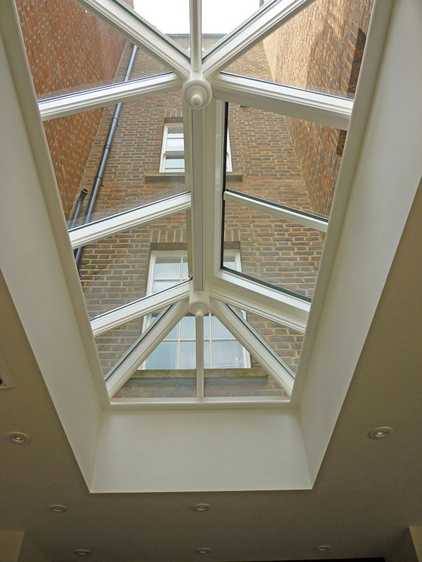 Roof lantern measuring 2400mm x 1200mm