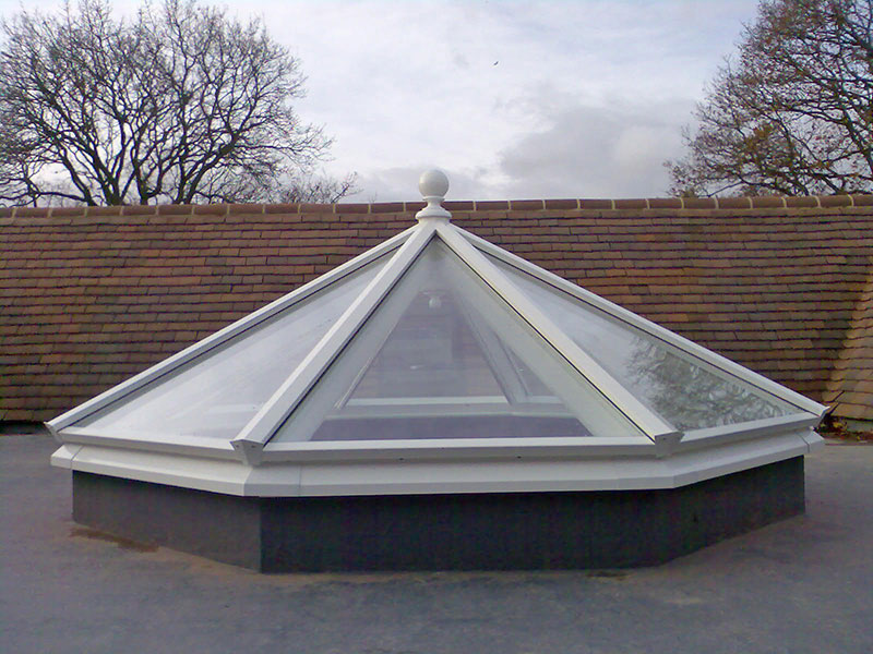 Roof lantern measuring 2205mm x 2205mm
