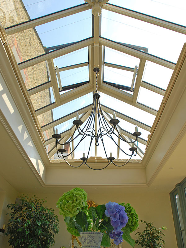 Roof lantern measuring 4270mm x 2270mm