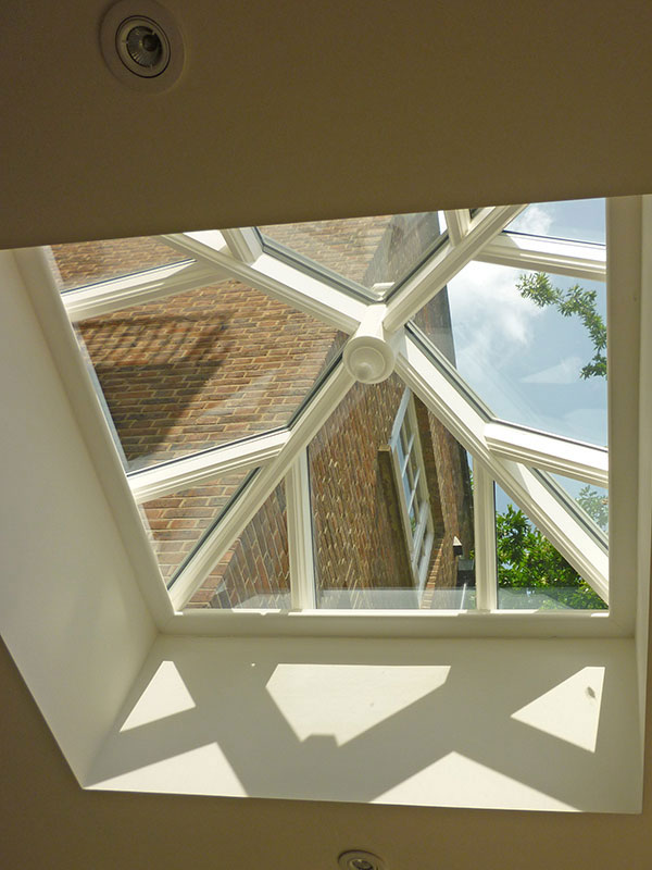 Roof lantern measuring 1200mm x 1200mm