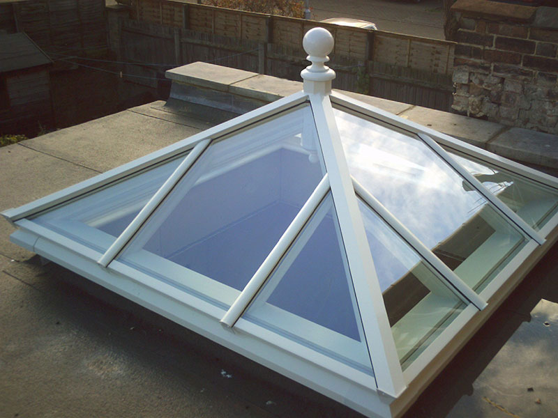 Roof lantern measuring 1300mm x 1300mm