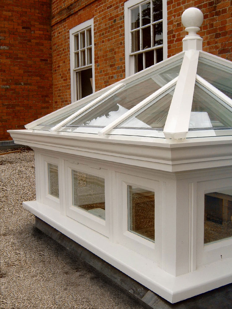 Roof lantern measuring Roof lantern with side frames measuring 1200mm x 1200mm