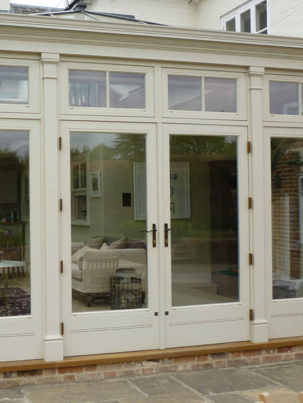 ... Pilasters framing a pair of french doors & Orangery Pilasters | Just Roof Lanterns