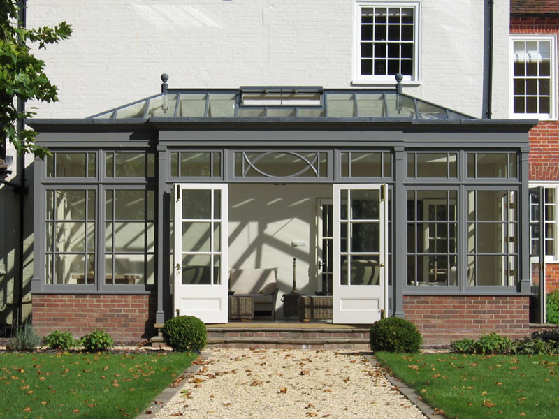 Example of a very tall orangery extension
