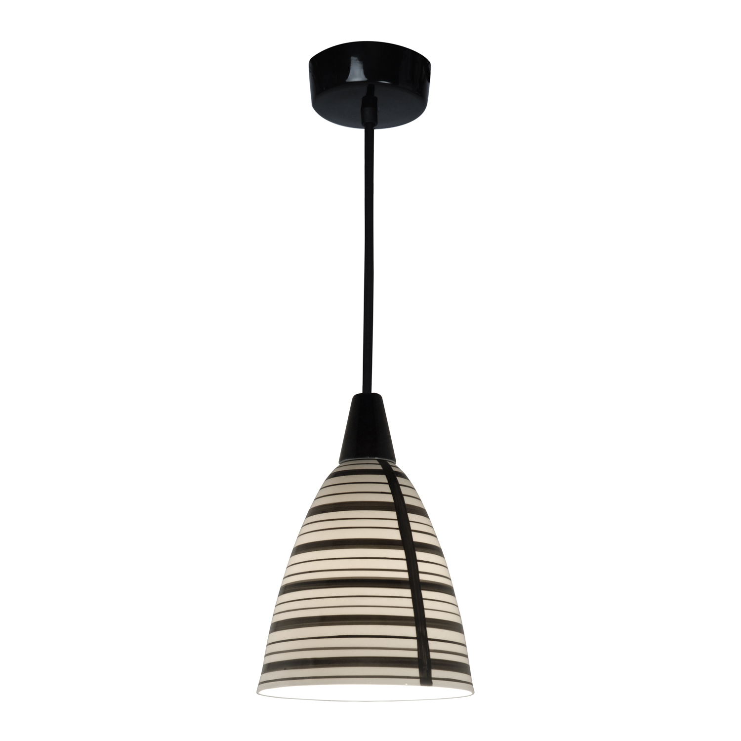 Circle Line Pendant with hand painted black lines