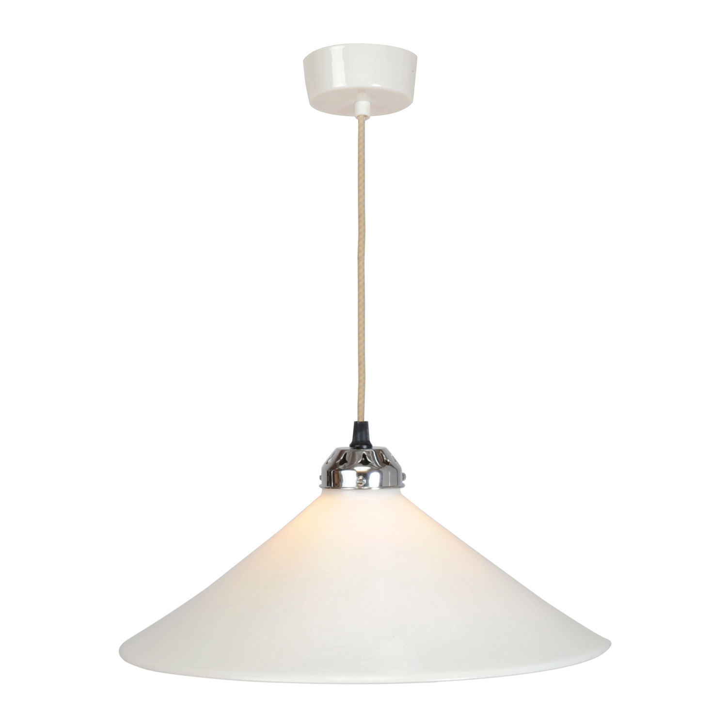 Cobb Large Plain Pendant Light, White