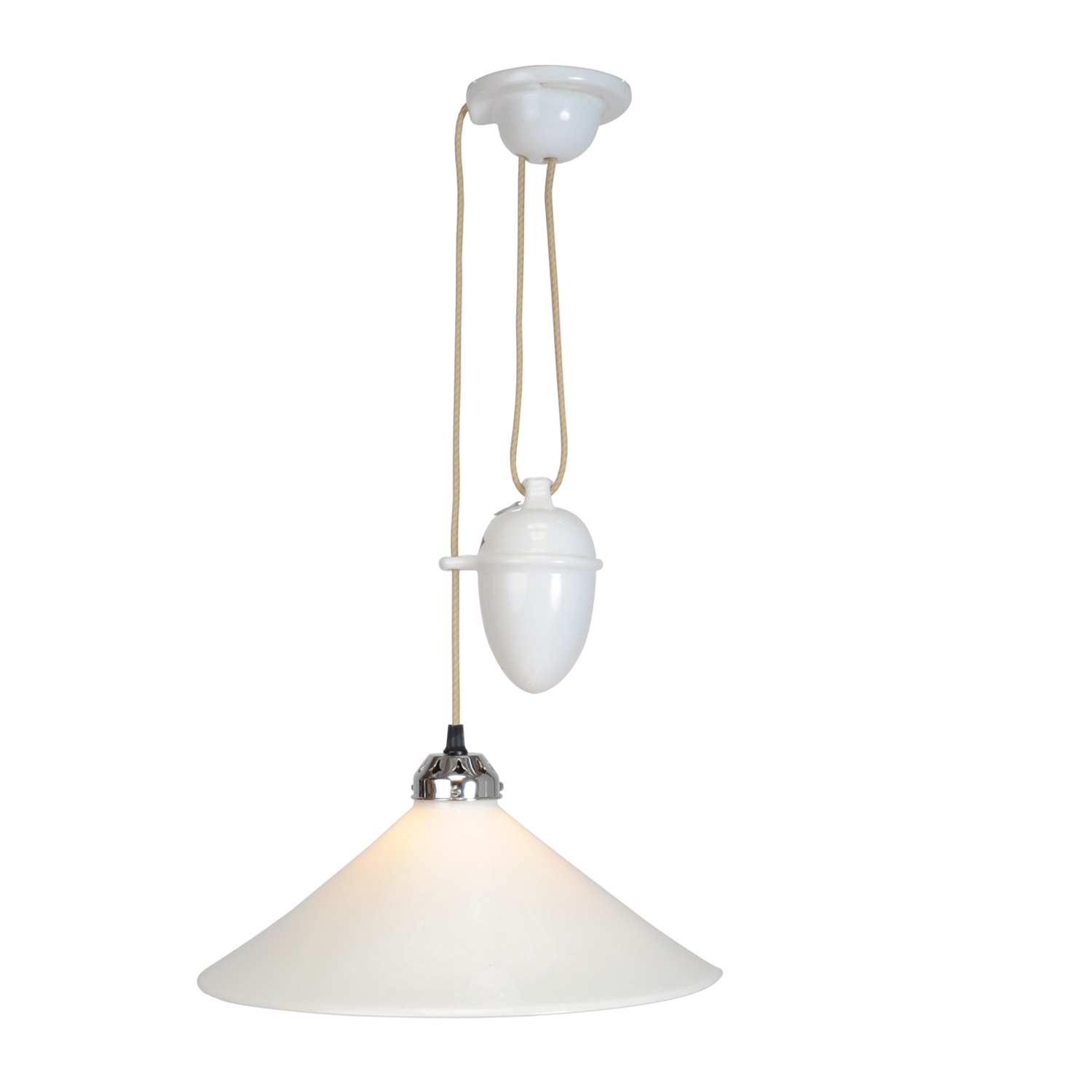 Cobb Rise & Fall Large Pendant Light, White