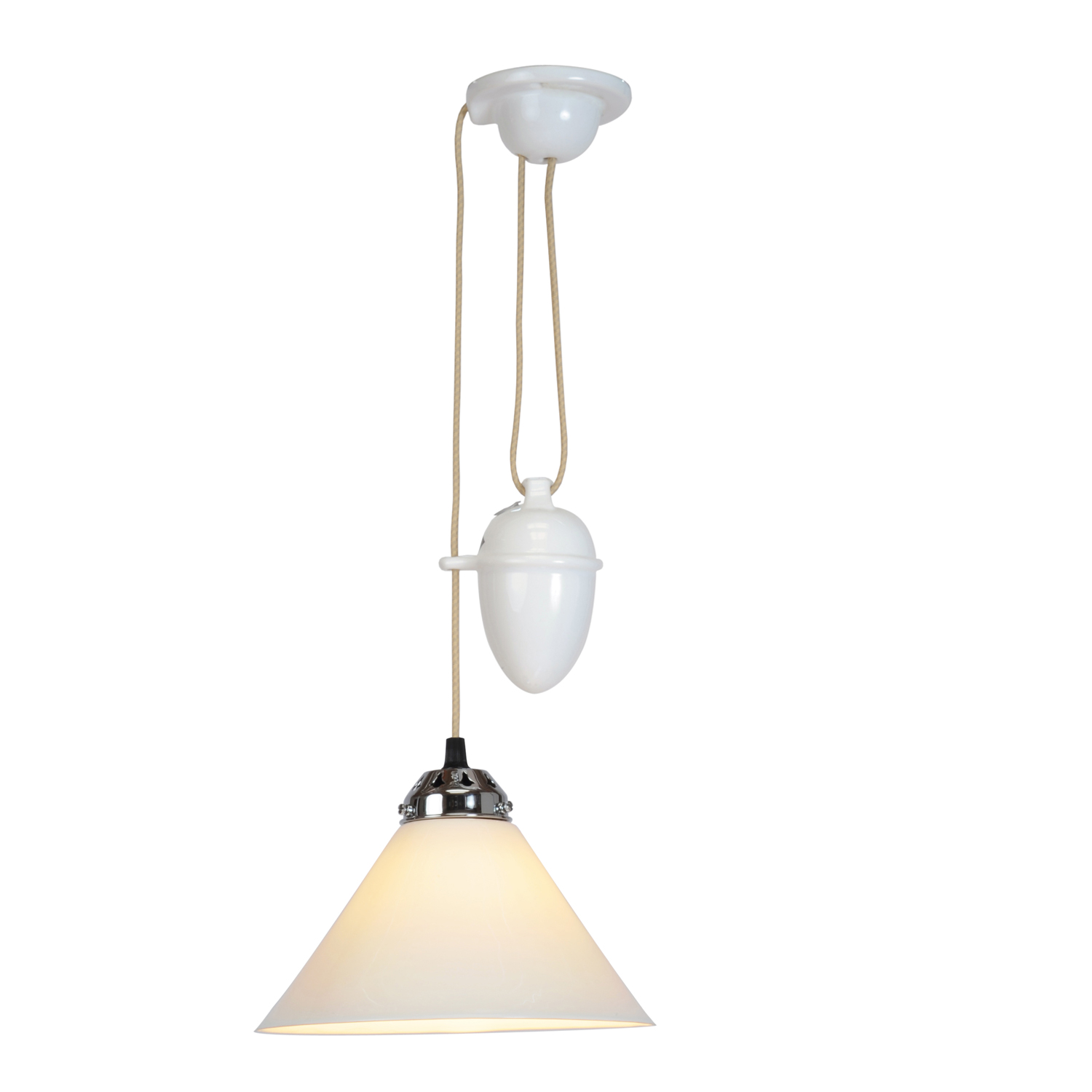 Cobb Rise & Fall Small Pendant Light, White