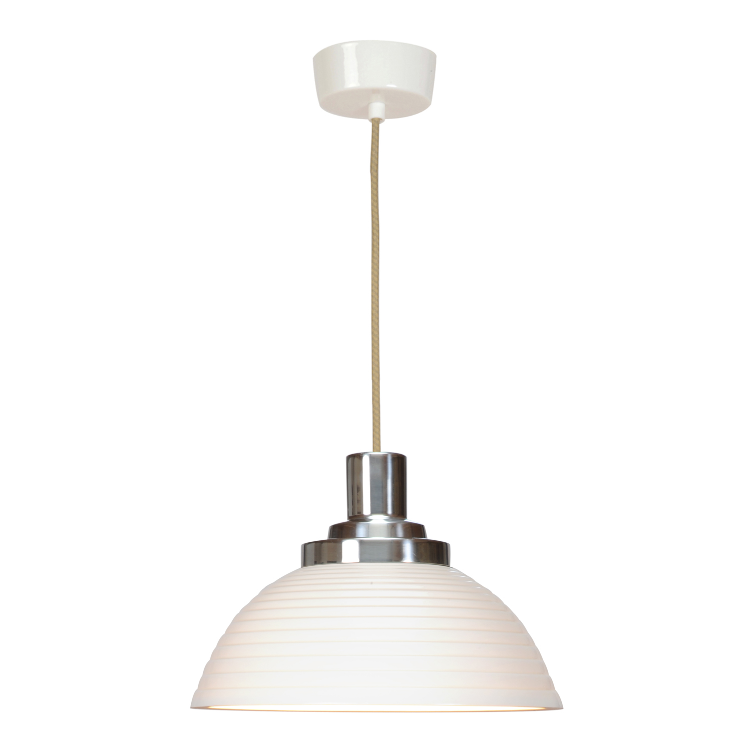Cosmo Stepped Pendant Light, White
