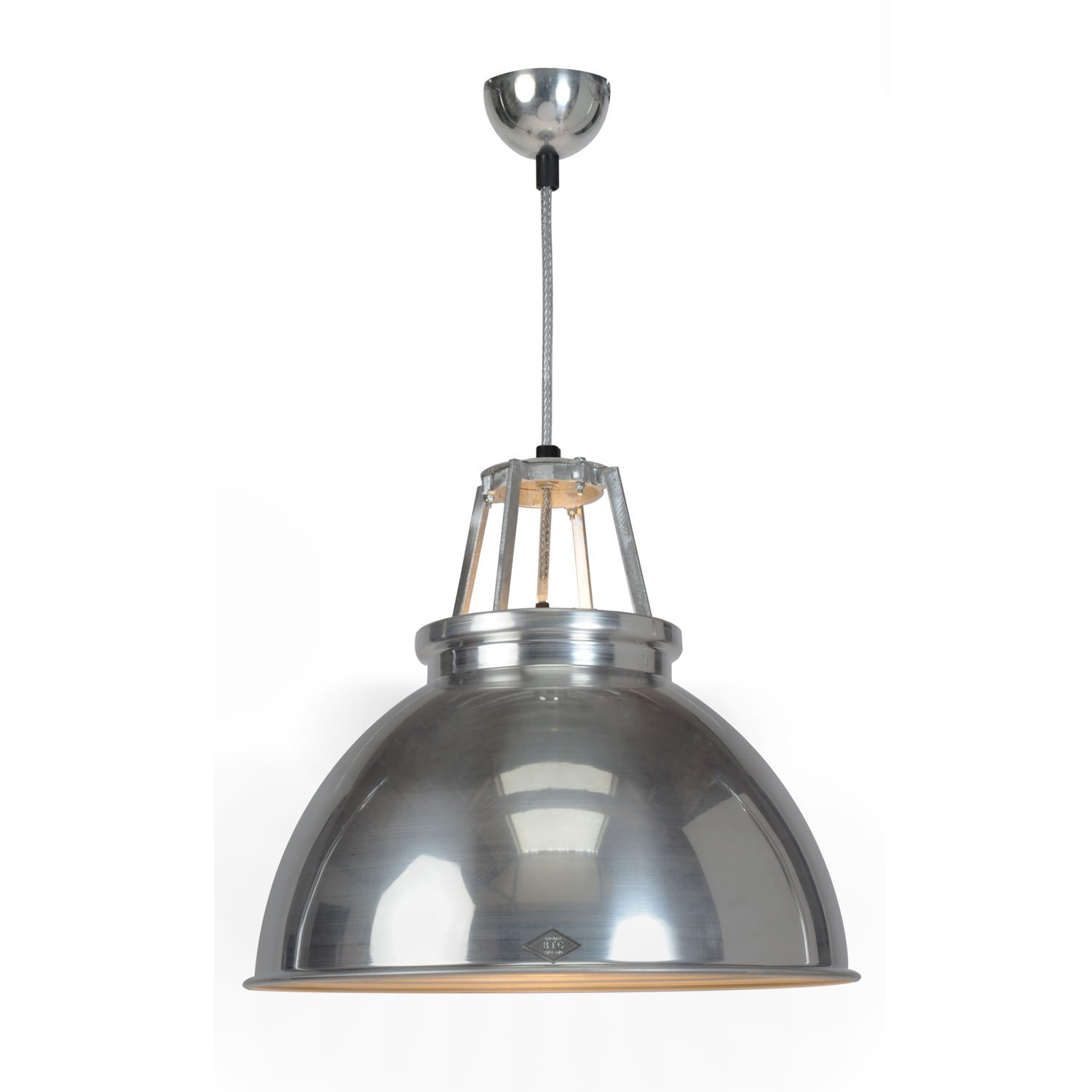 Titan Size 3 Pendant Light, Natural Aluminium