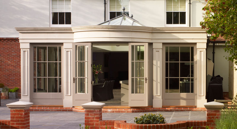 Stunning orangery extension featuring a roof lantern