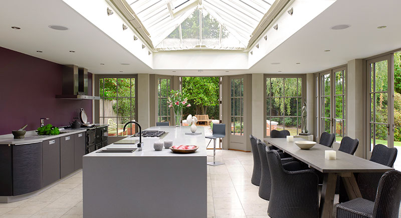 Kitchen extension with roof lantern