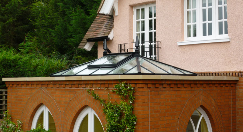 Stunning Roof lantern with black exterior