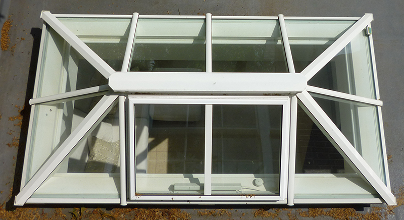 Timber roof lantern with aluminium cappings