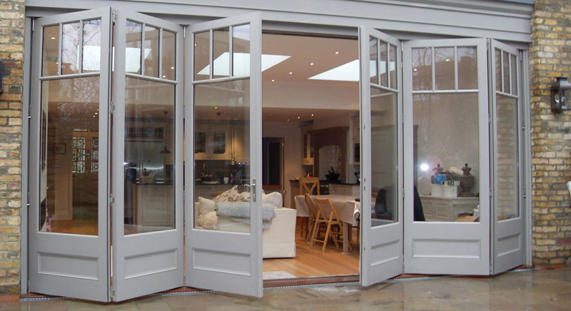 A set of Bi-Fold Doors