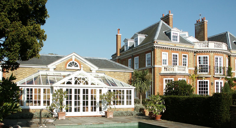 A traditional conservatory